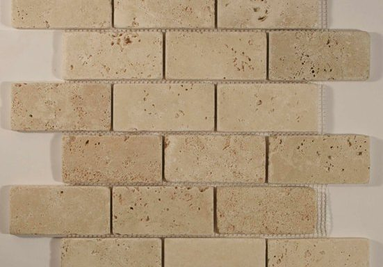 2×4 Ivory Travertine mosiac