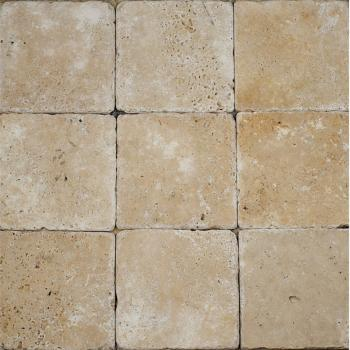 4×4 Tumbled Esspresso Travertine