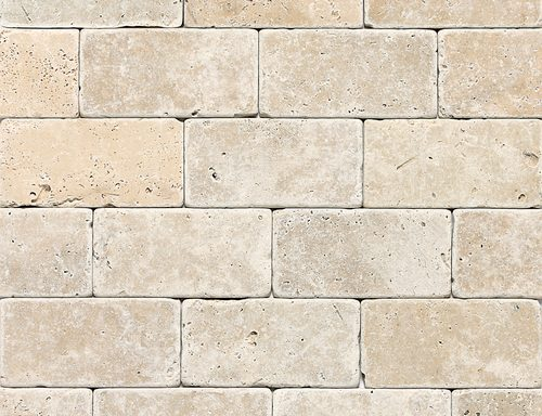 3×6 Tumbled Ivory Travertine