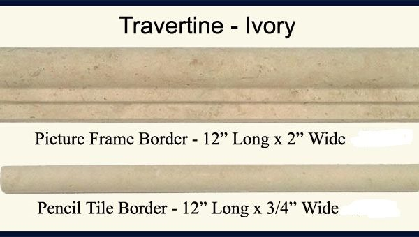 1/2×12 Ivory Travertine Pencil