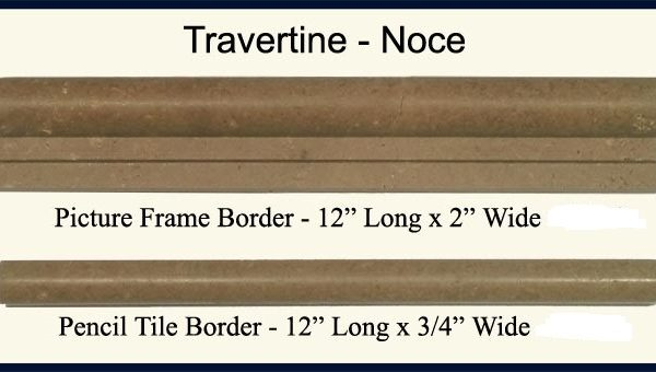 2×4 Walnut Travertine Chair Rail