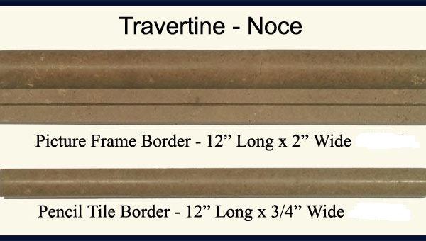 2×4 Walnut Travertine Chair Rail