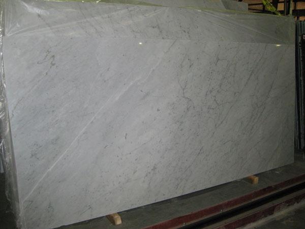 White Carrara All Marble Granite Tile