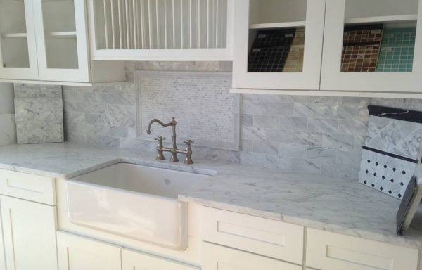 White Carrara Tops and Splash