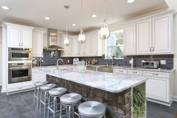 White Storm Marble Tops